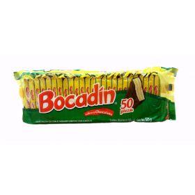 Bocadin Galleta cubierta de chocolate 50 piezas