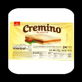 CHOCOLATE CREMINO BLANCO 432G 24PIEZAS