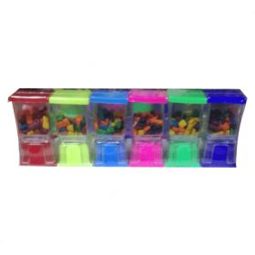 Despachador Chicles paquete de 6 piezas