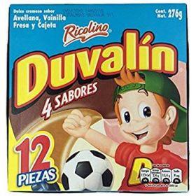 Duvalin 4 Sabores 276g 12 piezas