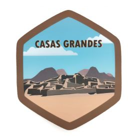 Calcomania Sticker Pueblo Mágico Casas Grandes, Chihuahua