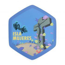 Calcomania Sticker Pueblo Mágico Isla Mujeres, Quintana Roo