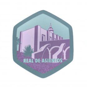 Calcomania Sticker Pueblo Mágico Real de Asientos, Aguascalientes
