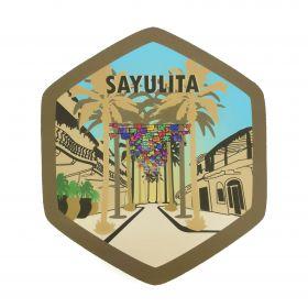Calcomania Sticker Pueblo Mágico Sayulita, Nayarit
