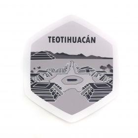 Calcomania Sticker Pueblo Mágico Teotihuacan, Estado de México