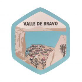 Calcomania Sticker Pueblo Mágico Valle de Bravo, Estado de México