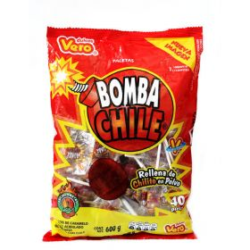 Vero Bomba Chile Paleta 40 piezas 600g