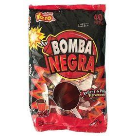 Vero Bomba Negra Paleta 40 piezas 600g