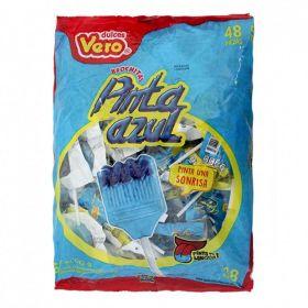 Vero Brochitas Pinta Azul Paleta 48 piezas 672g
